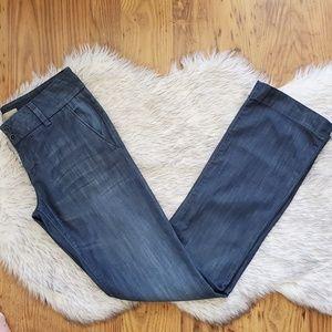 Level 99 Chambray Wide Leg Pants Jean Size 28 x 33